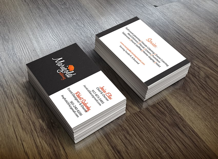 Marigold Business Card Design - Simplio Web Studio
