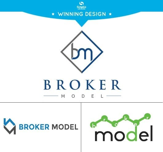 Broker Model Logo Winning Design
